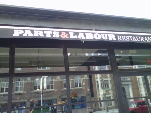outside of Parts and Labour